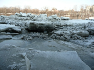Ice Jam in front of WRC