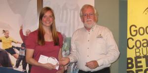 Juliana receives Jeff Collins Winnipeg Female Coach bursary