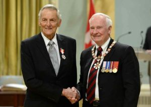 Derek Riley receives Order of Canada.  Photo from CP