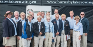 Officials at Canadian Masters Regatta.  Winnipeg Sandi Kirby front, second from left
